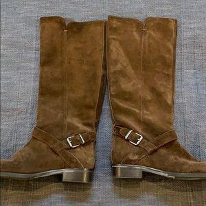 JCrew brown suede rider boots